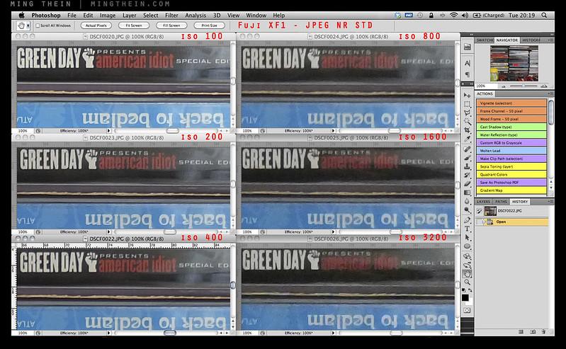 Fuji XF1 noise crops-JPEG NR STD