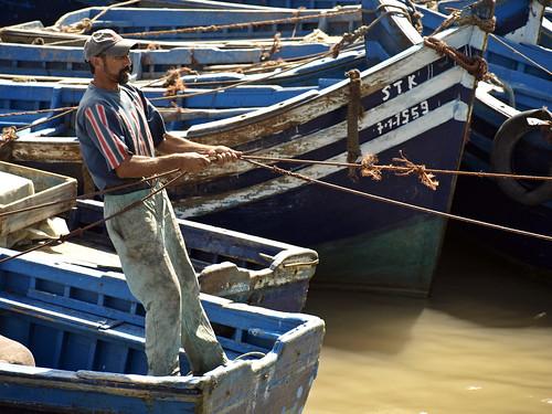 Aparcando el bote