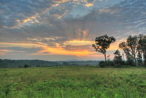 sunset sky mountains clouds hdr blueridge naturesfinest