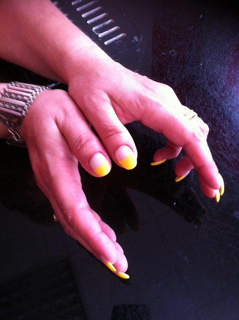 22 2 Ongle Gel Jaune Decor Nail Art French Manucure Quickepil Proepil Flickr Photo Sharing