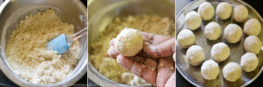 How to make rava ladoo - Step4