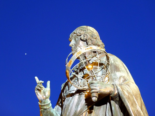 Copernicus pointing to Venus