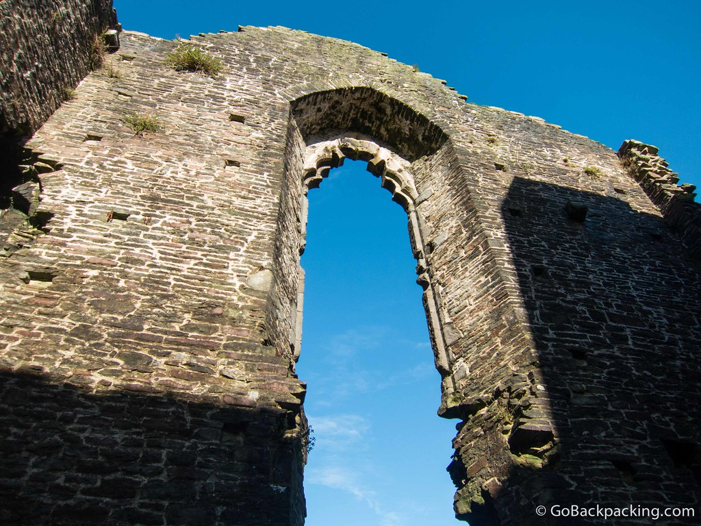 The scale of Caerphilly's architecture is truly awe-inspiring