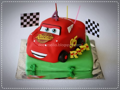 Cars Birthday Cake for Rafa
