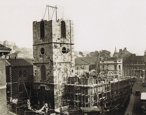 St Peter at Arches Lincoln demolishing 1932 REVIVALHERITAGE by revivalheritage