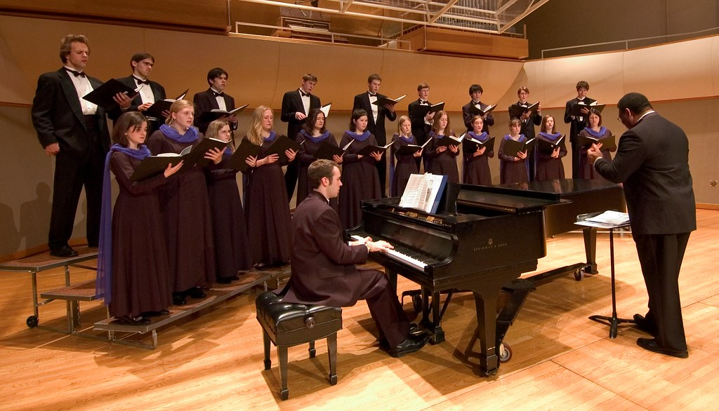 Performing with the Carleton Singers