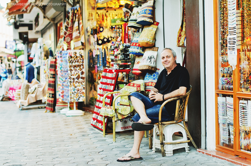 Owner of the shop in Marmaris