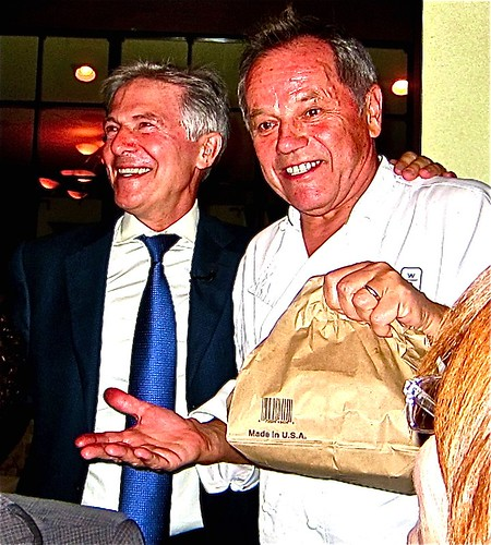 and Spaagao's Wolfgang Puck stopped by for some dinner