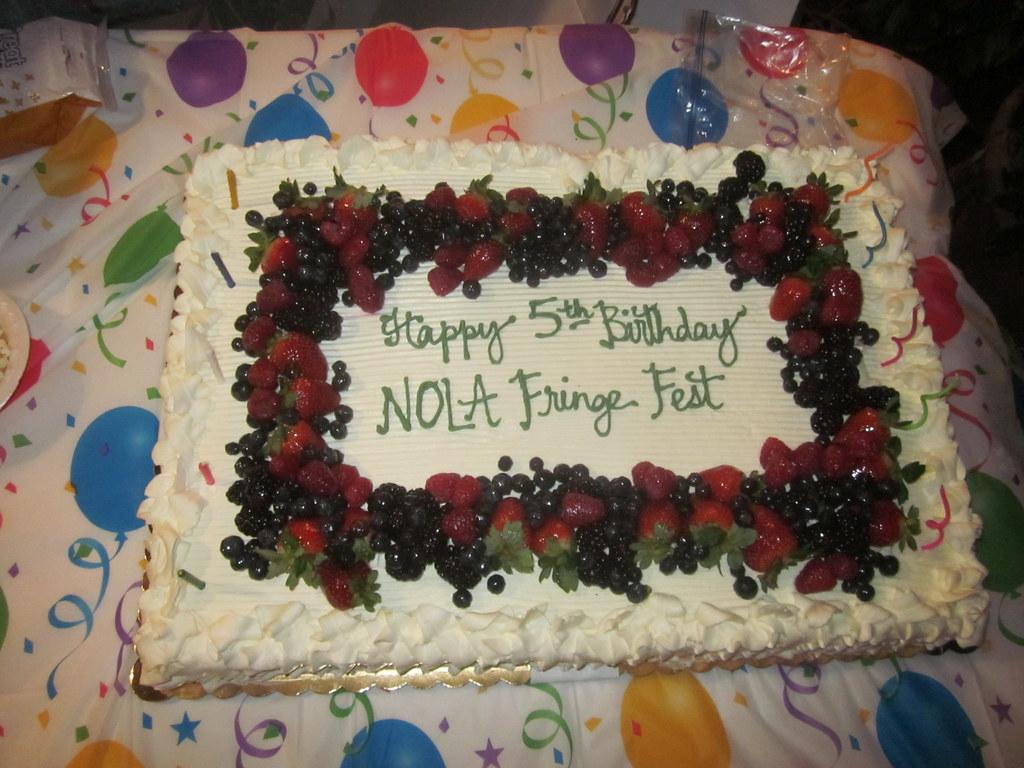 Fringe Birthday Cake
