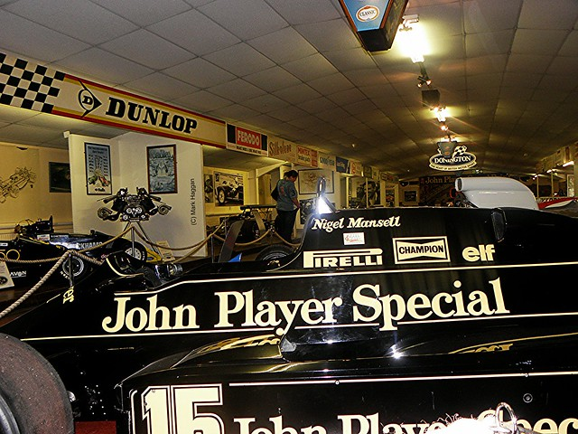 A Nigel Mansell Lotus Formula One car in The Donington Collection