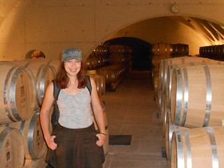 Clare After Trying to Lift a Wine Barrel