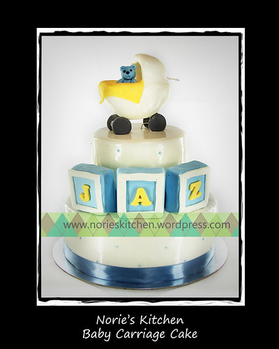 Norie's Kitchen - Baby Carriage Cake by Norie's Kitchen