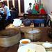dimsum et Pu Er dans une maison de thé à Hong Kong