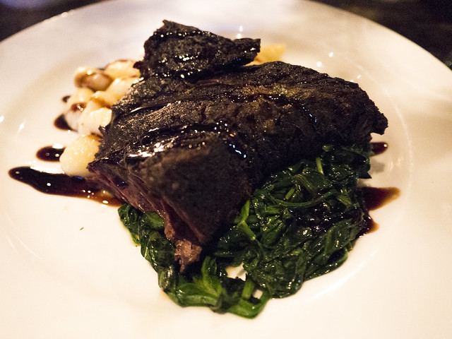 Braised boneless beef short ribs with black mission fig balsamic glaze ...