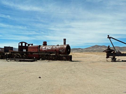 Foto del Cementerio de trenes de Uyuni