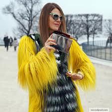 Anna Dello Russo Bright Fur Trend Celebrity Style Women's Fashion
