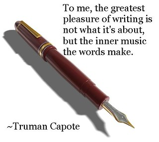 The pleasure of writing by Truman Capote