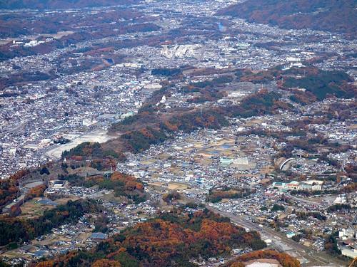 武甲山山頂から見る秩父市