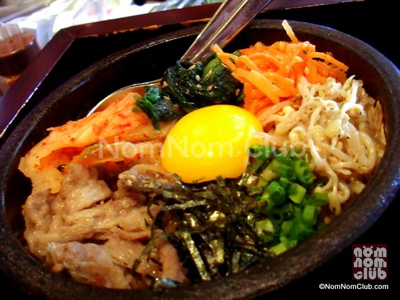 Beef and Kimchi Rice in Stone Pot (P245)