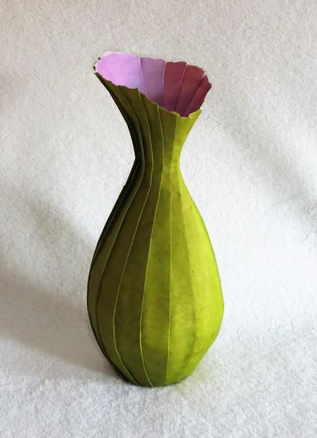 Pleated Origami Vase