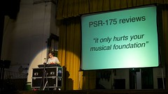 Helen Arney demonstrates the PSR-175