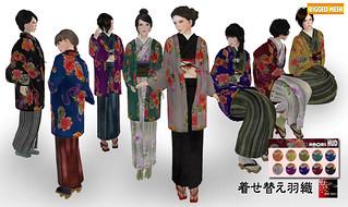Japanese HAORI /Texture change