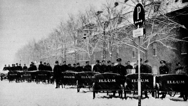 Illum's Cargo Bike Messengers in Copenhagen 1940s