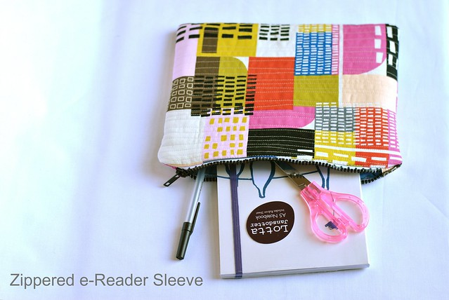Zippered e-Reader Sleeve Tutorial