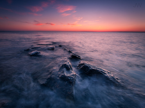 ocean longexposure sunset sea sun seascape color beach set evening twilight rocks dusk connecticut wideangle gradient afterglow jackwassell