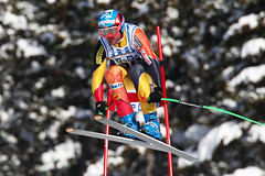 Jan Hudec during World Cup downhill in Lake Louise.