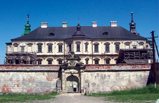 A Polish castle in renovation as a part of a countryside  tour in Lviv.