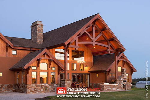 Custom Timber Home Located in Arizona | PrecisionCraft Timber Frame Home
