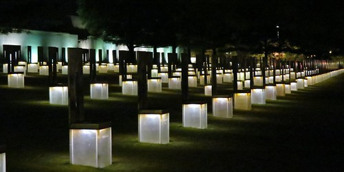 Oklahoma City Memorial at Night