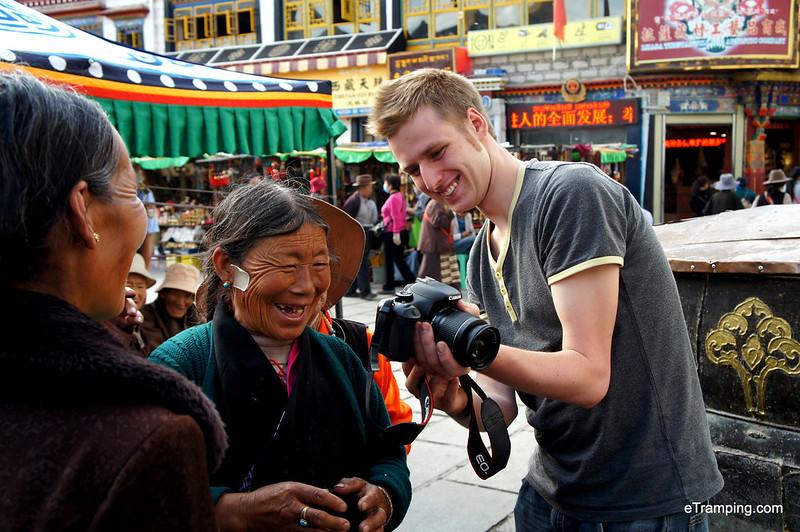 Local ladies in Tibet