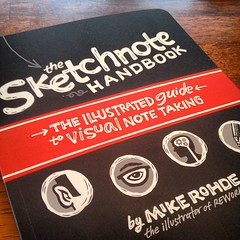 The very first copy of my Sketchnote Handbook has arrived - looks GREAT!