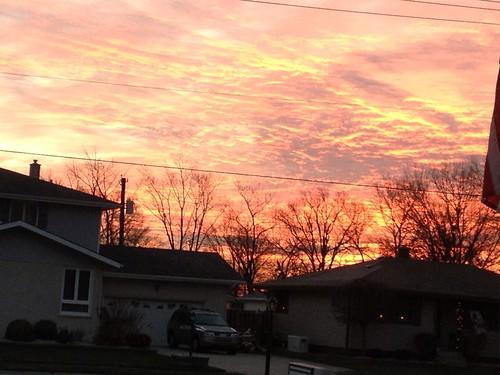 sky sun sunrise indiana morningsky highlandindiana speedyjr iphone4s