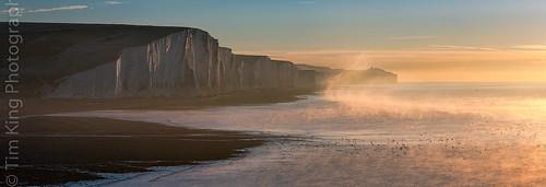 mist sunrise dawn sevensisters eastsussex gloriousfool