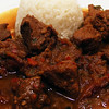 Lamb curry with plums