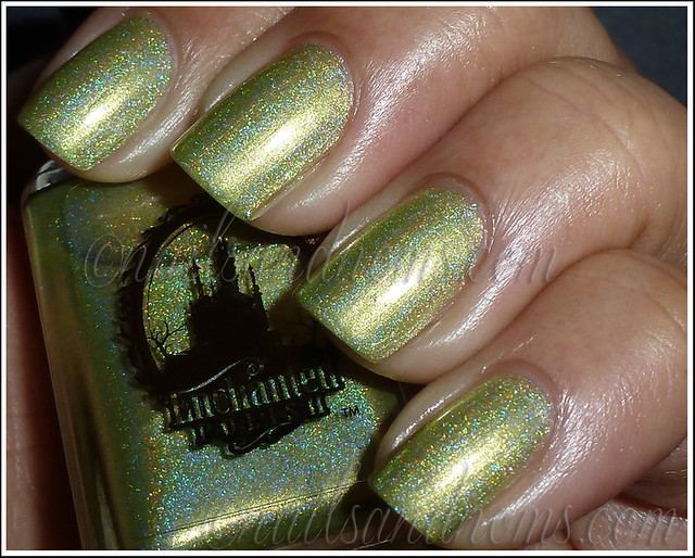 Enchanted Polish Ho Ho Holoday - Green Peace On Earth Flash 2