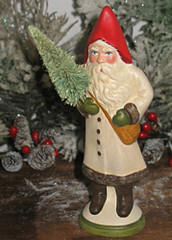 German Santa hand crafted from an antique chocolate mold