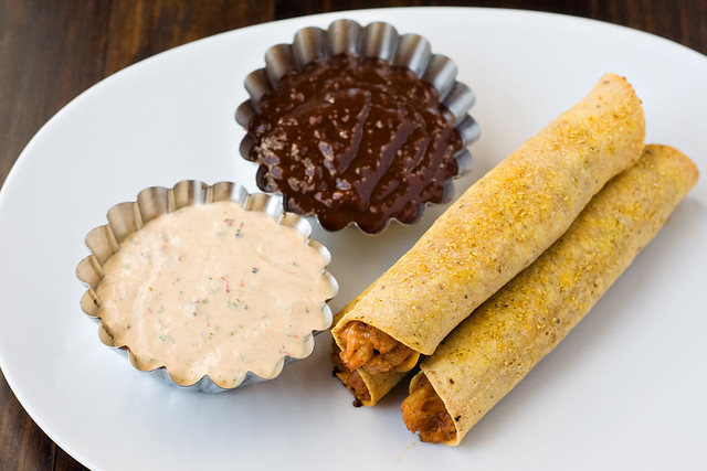BBQ Chipotle Ranch Chicken Taquitos