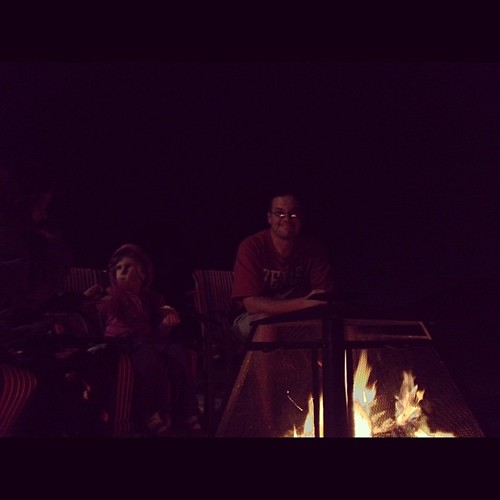We decided to have s'mores for dessert tonight. Good times by the fire.