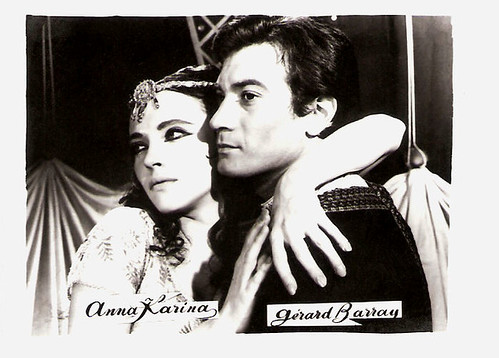 Anna Karina and Gérard Barray in Sheherazade (1963)