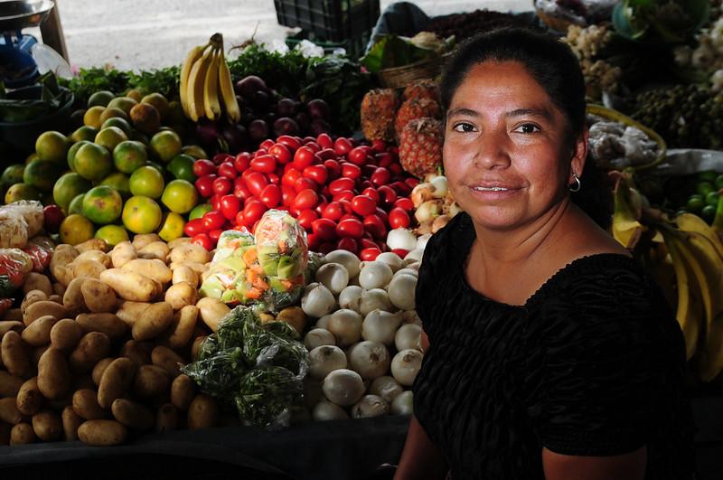 Produce market in Guatemala City