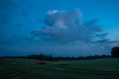 people field clouds sunrise georgia parking run obstaclecourse moreland gladiatorrocknrun