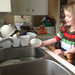 izzy doing dishes