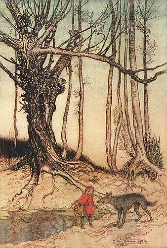 Arthur Rackham's illustration for the Brothers Grimm tale of Little Red Riding Hood by trudeau