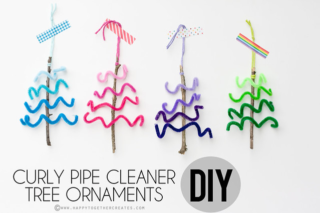 Curly Pipe Cleaner Tree Ornaments DIY