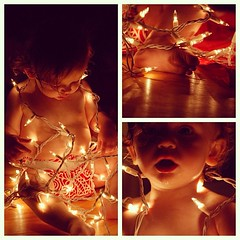 Light - Molly and I played around with the Christmas lights tonight. #fmsphotoaday