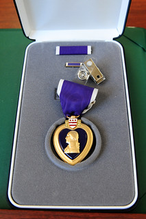 Retired Soldier Receives Purple Heart